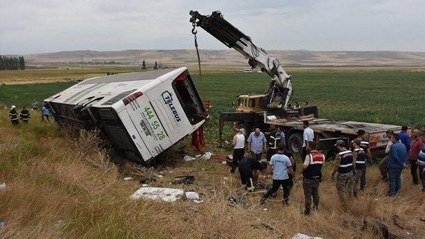 УТуреччині перекинувся автобус, багато загиблих: опубліковано фото і відео