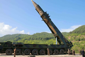 "<p style=""text-align: justify;"">Запуск МБР Hwasong-14</p>"