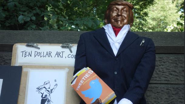 УСША встановили смішну статую Трампа: опубліковані фото