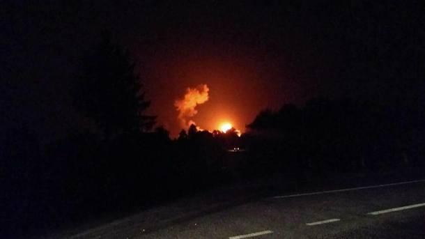 Украероцентр закрив повітряний простір над складами боєприпасів вКалинівці