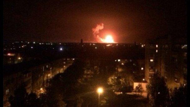 УКалинівці горить 10% від площі арсеналу— Генштаб