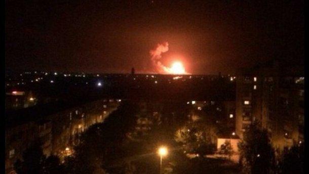 Військова прокуратура назвала пожежу наскладах боєприпасів вКалинівці диверсією