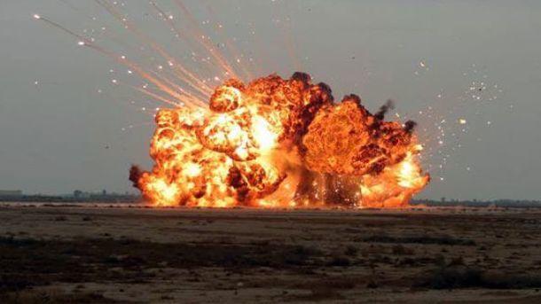 Наокупованій Донеччині сталася пожежа наскладі боєприпасів