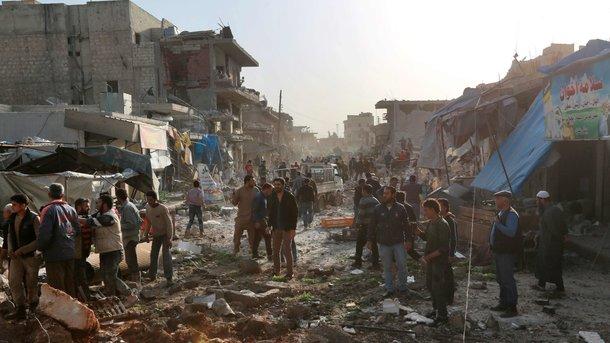 Авіаудар по ринку в Сирії: близько 30 загиблих