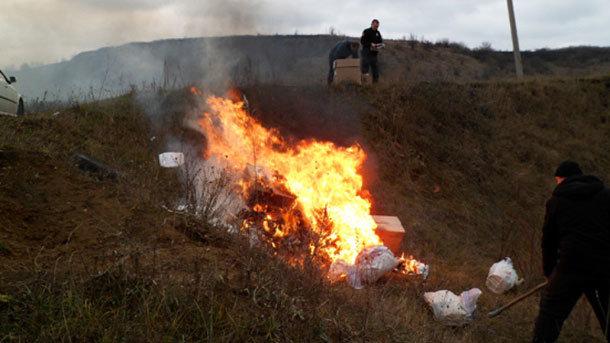 У поліції влаштували урочисте спалення наркотиків: з'явилися фото і відео