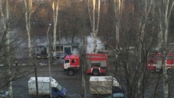 У Запоріжжі на маршруті загорівся трамвай