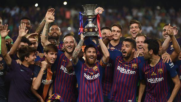 """<p style=""""text-align: justify;"""">Лео Мессі і компанія завоювали Суперкубок Іспанії. фото AFP</p>"""