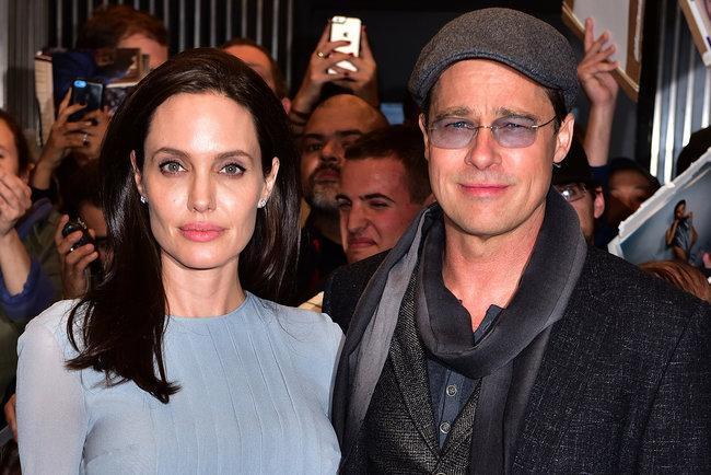 "<p style=""text-align: justify;"">Анджеліна Джолі і Бред Пітт. Фото: AFP</p>"