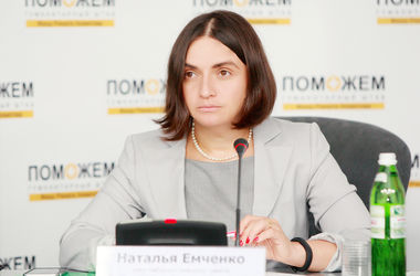 "<p style=""text-align: justify;"">Наталя Ємченко, член наглядової ради Гуманітарного штабу Рината Ахметова. Фото: Д. Павлов.</p>"