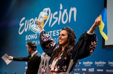 "<p style=""text-align: justify;""><span>Джамала виграла конкурс для України. Фото: eurovision.tv</span></p>"