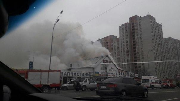 УКиєві чергова пожежа наСТО