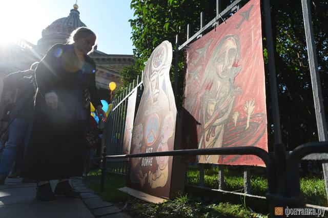 УСанкт-Петербурзі проходить несанкціонована акція проти війни зУкраїною