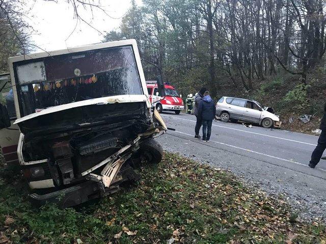 НаЛьвівщині - аварія заучастю «маршрутки». 7 потерпілих