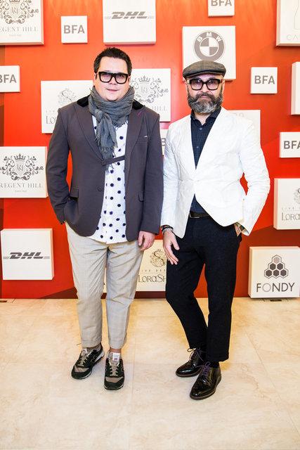 Дизайнер Серж Смолін (праворуч)