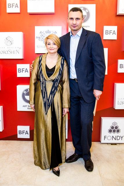 Засновник і голова оргкомітету Ukrainian Fashion Week Ірина Данилевська та Володимир Кличко